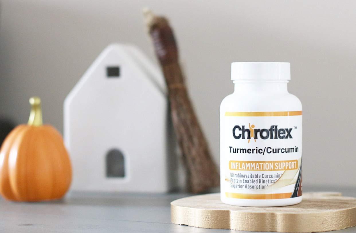 Chiroflex Turmeric Curcumin Supplement – Bioperine Free Arthritis Pain Relief – Inflammation Joint Support – Anti inflammatory Supplement Antioxidant – Turmeric Supplement – Turmeric Capsules