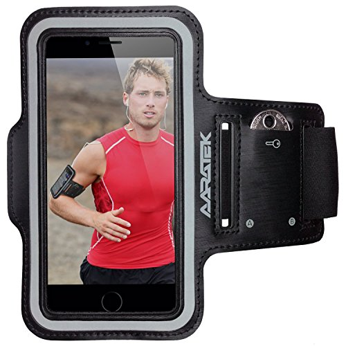 AARATEK Pro Sport Armband for iPhone 6,6s, Galaxy S6,S5,S4, iPods... (Various Colors) - Best for running, workouts, cycling, fitness, or any activity outside or in the gym!