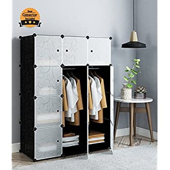 Amazon Tespo Portable Clothes Closet Wardrobe DIY Modular