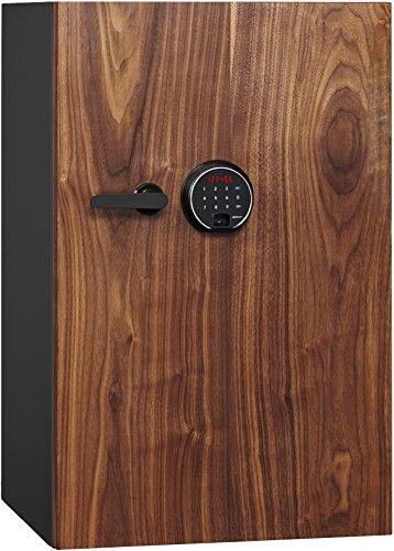 Phoenix DBAUM Fingerprint Lock Luxury Fireproof Safe with Walnut Door 3.0 cu ft ()