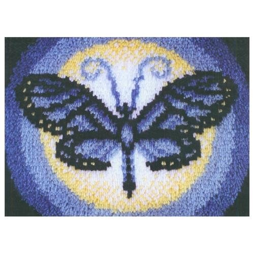 Caron WonderArt 15x20 Latch Hook Kit: Butterfly Moon