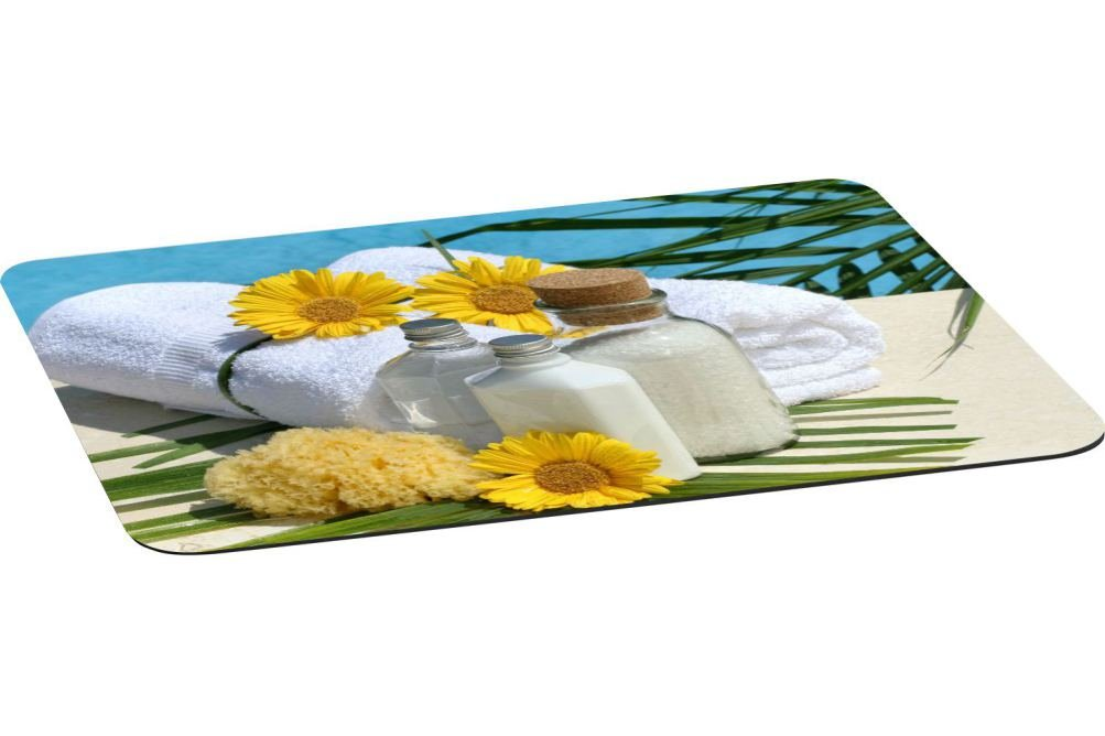 Rikki Knight Day at the Spa Large Non-Slip Fabric Top Table Place Mats with Rubber Backing (set of 2)