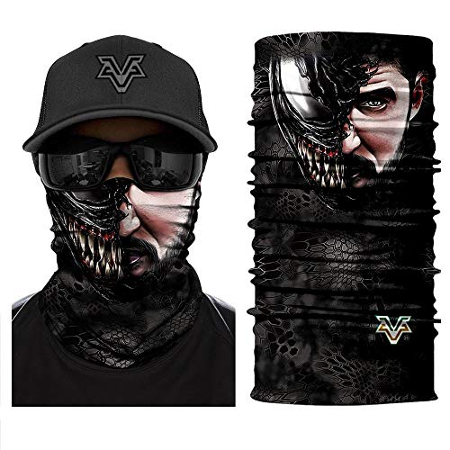 Bandana 3D Devil Venom Face Spider Masks Scarfs Movie Scarf Mask Tube Neck Full Lower Half Shield Sun Air Soft Hiking Paintball Headwear No.219]()