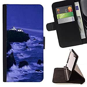 Momo Phone Case / Flip Funda de Cuero Case Cover - Naturaleza Cliff Castle - Sony Xperia M4 Aqua