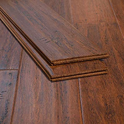 Ambient Bamboo - Bamboo Flooring Sample, Color: Toasted Almond, Solid Strand Tongue and Groove