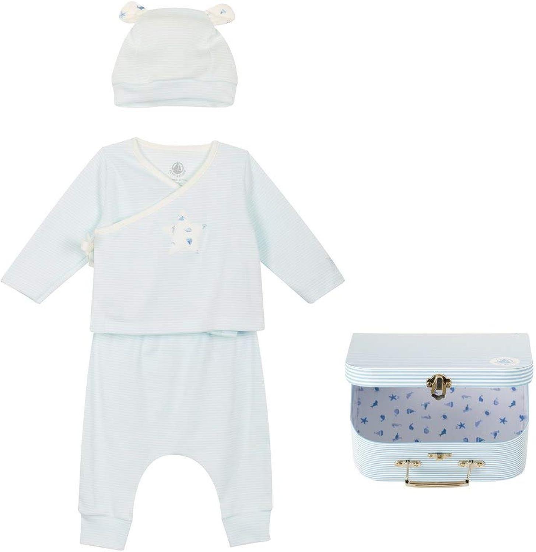 B084KLNN6M Petit Bateau - Babies' Ribbed Clothing - 3-Piece Set - 1 Month Blue 51VUQ6CS2EL