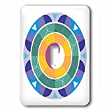 3dRose Sven Herkenrath Symbol - Yin Yang colorful Background Symbol Sign Balance Meditation - Light Switch Covers - single toggle switch (lsp_254364_1)
