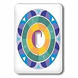 3dRose Sven Herkenrath Symbol - Yin Yang colorful Background Symbol Sign Balance Meditation - Light Switch Covers - single toggle switch (lsp_254364_1)