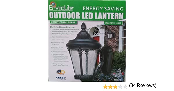 EnviroLite Outdoor LED Lantern - Architectural Grade - Wall Porch Lights - Amazon.com  sc 1 st  Amazon.com & EnviroLite: Outdoor LED Lantern - Architectural Grade - Wall Porch ... azcodes.com