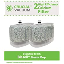 2 Bissell Vacuum Cleaner Water-Calcium Filters, Fits The Bissell Vacuum Steam Mop 218-5600, Compare to Part # 2185600 (218-5600), Designed & Engineered by Crucial Vacuum