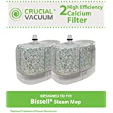 2 Bissell Vacuum Cleaner Water-Calcium Filters; Fits The Bissell Vacuum Steam Mop 218-5600, Part No.2185600; Designed by Think Crucial