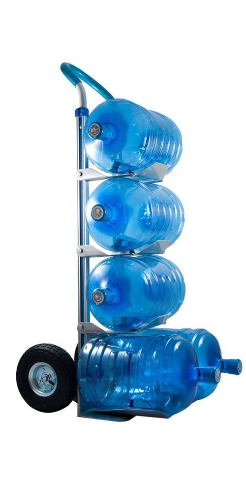 Carretilla portabotellones aluminio (5 botellones), Carretilla botellas ,Carros y carretillas, Carretilla de Reparto de Botellones de Agua: Amazon.es: ...