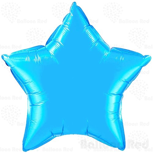 [18 Inch Helium Foil Mylar Balloons (Premium Quality), Pack of 6, Star - Sky Blue] (Easy Homemade Adults Halloween Costumes)