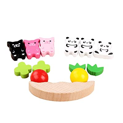 Thinktoo Wooden Balance Game Animal Stacking Blocks Baby Toddler Blocks for Kids for Baby, Kiddie, Kids, Adult, Infant, Toddlers Sports Outdoor Play Toys: Arts, Crafts & Sewing