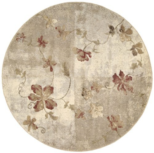 Nourison Somerset (ST64) Multicolor Round Area Rug, 5-Feet 6-Inches by 5-Feet 6-Inches (5'6
