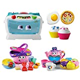LeapFrog Number Lovin' Oven, Shapes And Sharing Picnic Basket and Musical Rainbow Tea Toy Bundle, Kids Pretend Play, Social Skills, Early Learning Educational Games, Creativity, Baby Gift Set