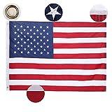 Homdox 4-Feet-by-6-Feet Nylon Embroidered American Flag