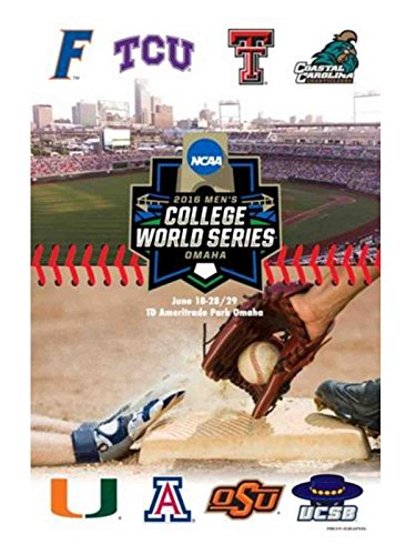 2016 NCAA Baseball College World Series TD Ameritrade Park All Team Print Poster -