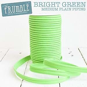 12mm brillantes verde medio tuberías 5M de largo–, cable + cordón borde con cable borde corriente Recortar