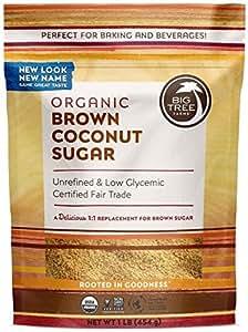Big Tree Farms Organic Brown Coconut Sugar, Non-GMO, Gluten Free, Vegan, Fair Trade, Natural Sweetener, 1 Pound (Pack of 6) (Packaging May Vary)