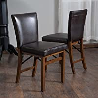 Rosalynn Brown Leather Dining Chairs (Set of 2)