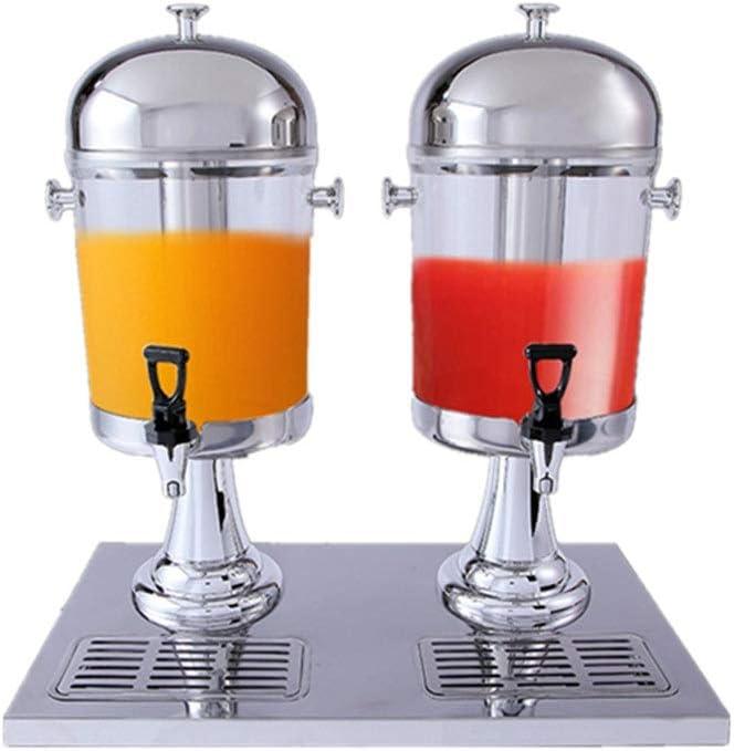 飲料ドリンクディスペンサー ダブル蛇口ジュース丁ビュッフェは、マシン炭酸飲料機、PC飲料ディスペンサーを飲む(サイズ:16L) 大型 ビバレッジディスペンサー (色 : 銀, サイズ : 46.7x35x59cm)