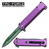 Cheap Purple and Green Joker Tac Force Fantasy Assisted Opening Folding Knife (Joker: Why so Serious)