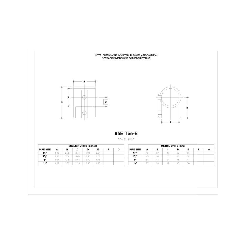 Hollaender 5E-6 Tee-E Aluminum Magnesium 1'' IPS (1.38'' ID)