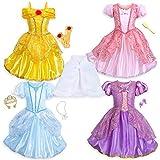 Disney Princess 10-Piece Wardrobe Set Size 7/8 Multi