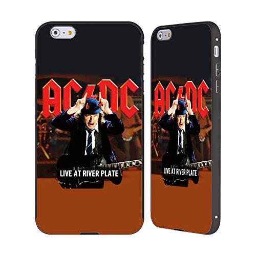 Officiel AC/DC ACDC En Direct Au Río De La Plata Klaxons Art D'album Noir Étui Coque Aluminium Bumper Slider pour Apple iPhone 6 Plus / 6s Plus