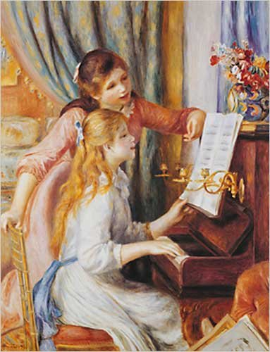 Two Girls at the Piano by Pierre-Auguste Renoir Poster Print, 16x20