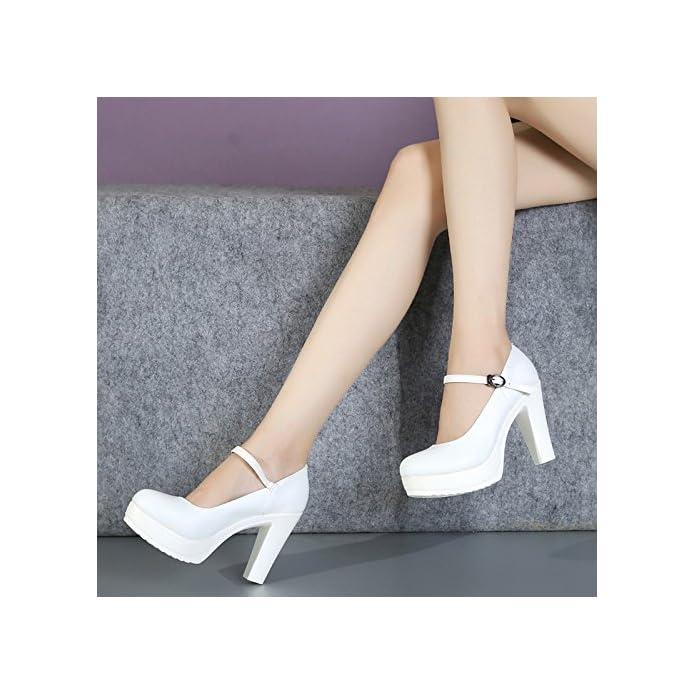 Gtvernh passeggiata Mostra Modello Di Scarpe Cheongsam Da Donna Bianca Single Tacco Alto 10cm 37