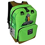 "Best Minecraft Bookbags For Boys - Minecraft 18"" Sword Adventure Kids Backpack - Green Review"