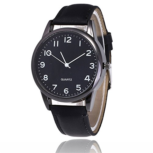 JYC Clearance wrist watches for men military Couple Fashion Leather Band Analog Quartz Round Wrist Business men's watch