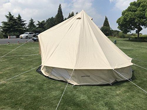 DANCHEL Outdoor All Season Sun Shade Travel Cotton Canvas Bell Tents Size 4M/ 13.1 & DANCHEL Outdoor All Season Sun Shade Travel Cotton Canvas Bell ...