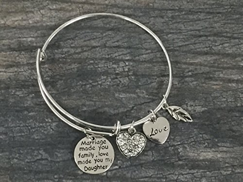 Infinity Collection Daughter in Law Bangle Bracelet- Daughter in Law Gifts- Daughter in Law Jewelry for Daughter in Laws by Infinity Collection (Image #2)