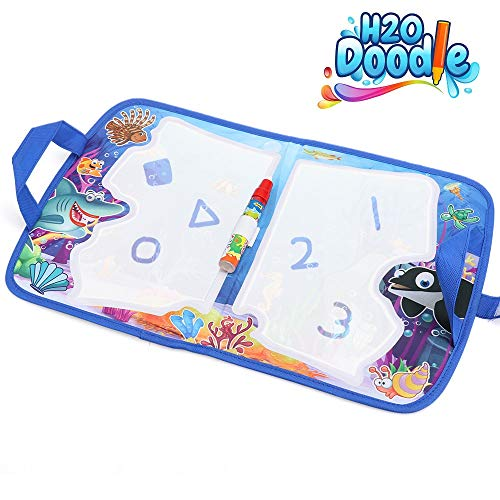 H2o Doodle-Kids Travel Accessories –Road Trip Activities for Kids – Toddler Doodle Mat– Buckle Joy Water Drawing Board –Aquadoodle Mat for Mess-Free Coloring – Educational Drawing Pad for Bo