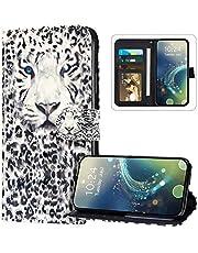 JAWSEU Funda Billetera Compatible con Galaxy Note 10, Carcasa de Suave PU Cuero Libro Flip Cartera Antigolpes Cubierta Cierre Magnético Soporte Plegable Tarjeteros 360 Grados Case,Leopardo
