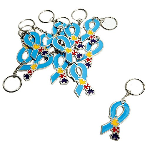 Fun Express Autism Awareness Keychains