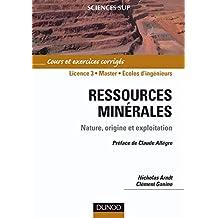 Ressources minérales : cours et exercices corrigés. Préface Claude Allègre (Sciences de la Terre et de l'Univers) (French Edition)