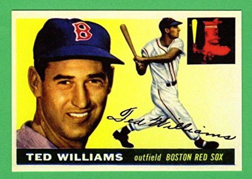 Ted Williams 1955 Topps Baseball Reprint Card (Red Sox)