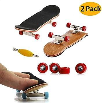 Mini Diapasón, 2 Pack Profesional Dedo Monopatín Maple Wood DIY Asamblea Skateboarding Juguete Juegos Deportivos Regalo de los Niños (Rojo): Amazon.es: ...