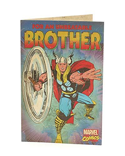 Marvel Comics Avengers Unbeatable Brother Birthday Card