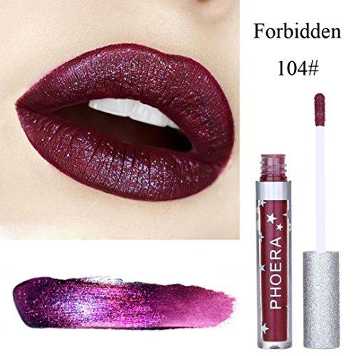 Oksale® Matte To Glitter Liquid Lipstick Waterproof Lip Glo
