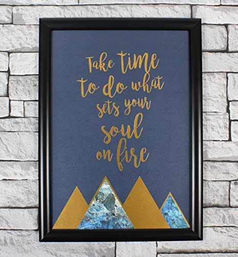 The Echoing Parrot TAKE TIME Poster Print, UNFRAMED Quote Gift Wall Art, Great UNFRAMED Poster for Bathroom OR Dorm, Inspiring Poster for Women, A3 in Size.