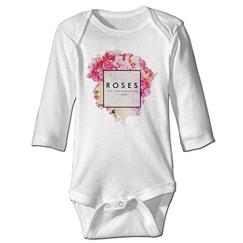Maloya Cute Baby Onesies The Chainsmokers Album-Bouquet Baby Shirt White
