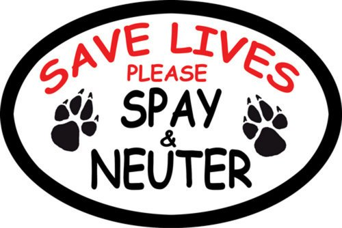 Save Lives Please Spay Neuter Oval Car Magnet - Neuter Magnet
