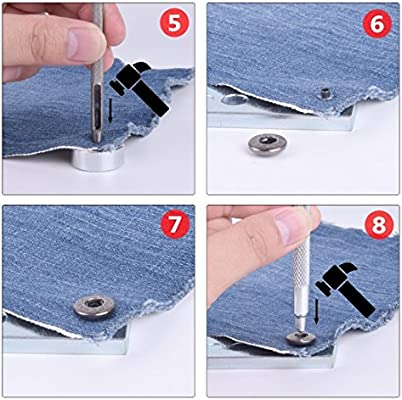 Leather Puch Tool,Punch Snap Kit for Hole Punch and Install Rivet Button Hotusi 11 Pcs DIY Leathercraft Tool Leather Rivet Setter