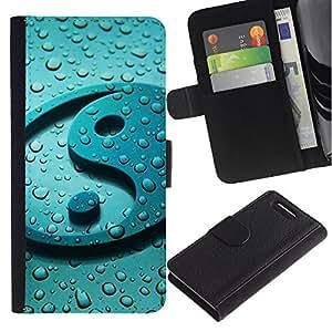 iKiki Tech / Cartera Funda Carcasa - Yang Water Drop Reflection Fresh Zen - Sony Xperia Z1 Compact D5503