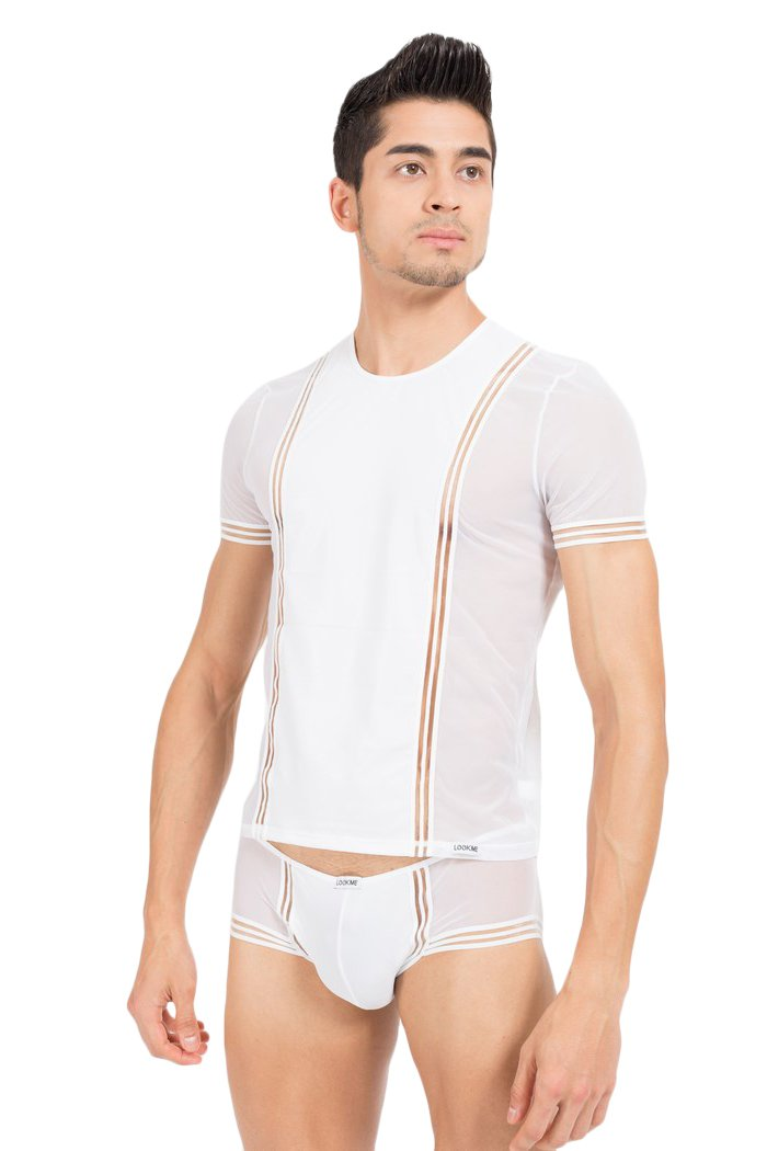 Look Me - T-Shirt Tripler - Farbe: weiss - Größe: XL, 1 Stück 1 Stück LM42-81WHT-XL